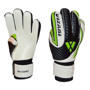 Vizari Pro Stopper FRF Soccer Goalkeeper Gloves (White/Black)