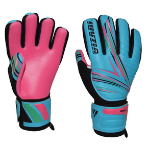 Vizari  Women's Pro Grip FP Soccer Goalkeeper Gloves (Blue/Pink)