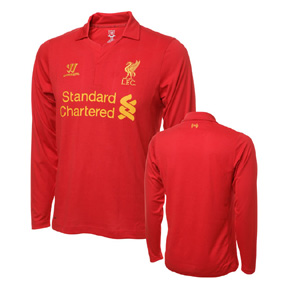 Warrior Liverpool Long Sleeve Soccer Jersey (Home 2012/13)