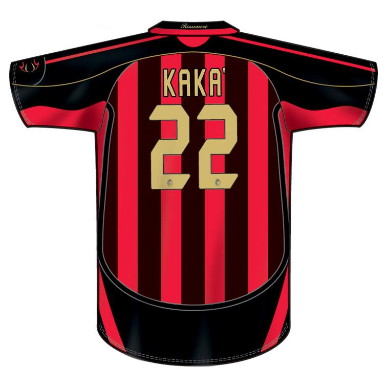 Adidas AC Milan Kaka #22 Jersey (Home 2006/7 ...