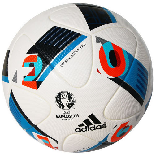 adidas euro 2016 official match soccer ball white pool. Black Bedroom Furniture Sets. Home Design Ideas