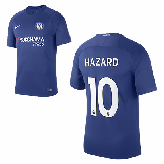 Nike youth chelsea hazard 10 soccer jersey home 17 18 for Unique home stays jersey