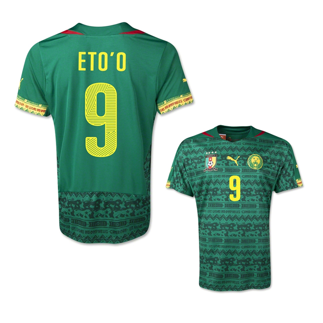 719134a83a5 ... 2014 fifa world cup cameroon samuel etoo 9 home soccer jersey click  here to view larger