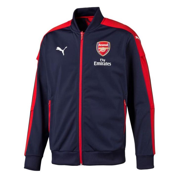 Puma Arsenal Stadium Soccer Jacket (Navy/Red ...