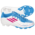 adidas Youth F5 TRX FG Soccer Shoes (White/Pink/Cyan)