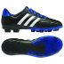 adidas Youth Goletto IV TRX FG Soccer Shoes (Black/White/Blue)