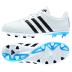 adidas Youth 11Nova FG Soccer Shoes (White/Black/Blue)