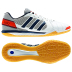 adidas  FreeFootball Top Sala Indoor Soccer Shoes (White/Navy)