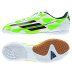 adidas Youth F5 Indoor Soccer Shoes (White/Green)
