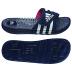 adidas Womens adissage Fade Soccer Sandal / Slide (Navy/White)