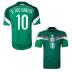 adidas Mexico Dos Santos #10 Soccer Jersey (Home 2014)