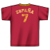 adidas World Cup 2006 Spain #7 Soccer Tee (Red)