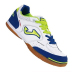 Joma Top Flex 405 Indoor Soccer Shoes (White/Royal)