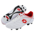 Lotto Stadio Azzuri Team FG Soccer Shoes (White/Fiery Red)
