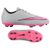 Nike Youth Mercurial Victory V FG Soccer Shoes (Wolf Grey/Pink)