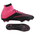 Nike  Mercurial  Superfly Leather FG Soccer Shoes (Black/Pink)