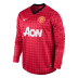 Nike  Manchester United Long Sleeve Soccer Jersey (Home 2012/13)