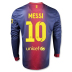 Nike Barcelona Messi #10 Long Sleeve Soccer Jersey (Home 2012/13)