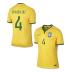 Nike  Brasil / Brazil  David Luiz #4 World Cup 2014 Soccer Jersey