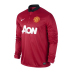 Nike  Manchester United Long Sleeve Soccer Jersey (Home 2013/14) - SALE: $94.50
