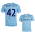 Nike Manchester City Yaya Toure #42 Soccer Jersey (Home 13/14)