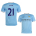 Nike Manchester City Silva #21 Soccer Jersey (Home 2013/14)