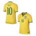 Nike Youth  Brasil Pele #10  World Cup 2014 Soccer Jersey (Home)