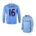 Nike  Manchester City Aguero #16 LS Soccer Jersey (Home 2013/14) - SALE: $99.50