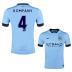 Nike   Manchester City  Kompany #4 Soccer Jersey (Home 2014/15) - SALE: $104.50