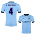 Nike  Manchester City  Kompany #4 Soccer Jersey (Home 2014/15)