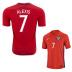 Nike  Chile  Alexis Sanchez #7 Soccer Jersey (Home 2016/17)