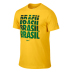 Nike Brasil / Brazil World Cup 2014 Core Type Soccer Tee