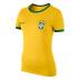 Nike Womens Brasil / Brazil World Cup 2014 Core Ringer Soccer Tee