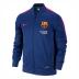 Nike Barcelona Squad Sideline Knit Soccer Track Top (Blue/Pink)