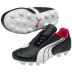Puma Youth v6.08 HG Soccer Shoes (Black/White)