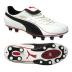 Puma King XL I FG Soccer Shoes (White/Black)