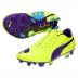 Puma  evoPower 1 FG Soccer Shoes (Yellow/Purple)