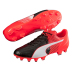 Puma  evoSpeed 3.5 Leather FG Soccer Shoes (Black/Red Blast)