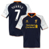 Warrior Liverpool Suarez #7 Soccer Jersey (Alternate 2012/13)