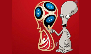 World Cup 2018 Logo Red Roger Family Guy