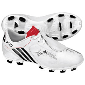 adidas Youth F10i TRX FG Soccer Shoes (White/Black/Red)