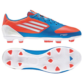 adidas F30 TRX FG Soccer Shoes (Infrared/Bright Blue)