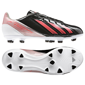 adidas Womens F10 TRX FG Soccer Shoes (Black/Red Zest)