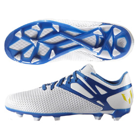 adidas Youth Lionel Messi 15.3 TRX FG Soccer Shoes (White/Blue)