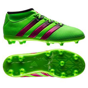 adidas Youth ACE 16.3 PrimeMesh FG/AG Soccer Shoes (Green)