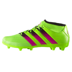 adidas ACE 16.3 PrimeMesh FG/AG Soccer Shoes (Green/Pink)