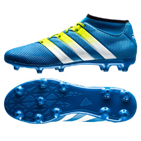 adidas ACE 16.3 PrimeMesh FG/AG Soccer Shoes (Blue/Green)