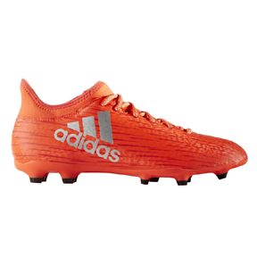 adidas X 16.3 FG Soccer Shoes (Solar Red/Silver)