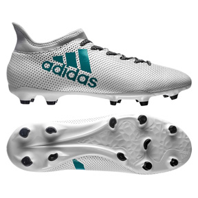 adidas X 17.3 FG Soccer Shoes (White/Energy Blue)