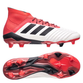 adidas  Predator  18.1 FG Soccer Shoes (White/Black/Red)